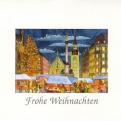 Postkarte-Ansichtskarte-Weihnachtskarte-Muenchen-KM155