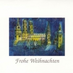 Postkarte-Ansichtskarte-Weihnachtskarte-Muenchen-KM574