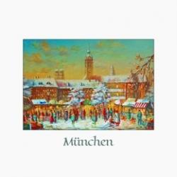Postkarte-Ansichtskarte-Weihnachtskarte-Muenchen-KM8002