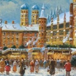 Postkarte-Ansichtskarte-Weihnachtskarte-Muenchen-KMS305