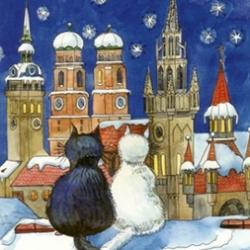 Postkarte-Ansichtskarte-Weihnachtskarte-Muenchen-KMS401