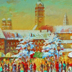 Postkarte-Ansichtskarte-Weihnachtskarte-Muenchen-KMS8002