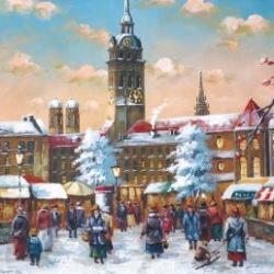 Postkarte-Ansichtskarte-Weihnachtskarte-Muenchen-KMS8084