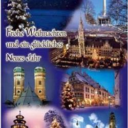 Postkarte-Ansichtskarte-Weihnachtskarte-Muenchen-KMS9058