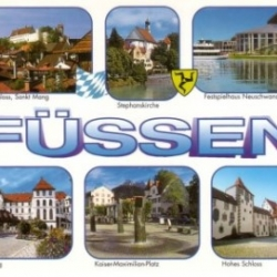 Postkarte-Ansichtskarte-Bayern-Allgaeu-Fuessen-90666
